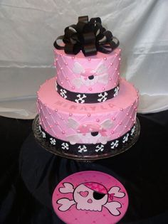 Pink Skull Cake | pink skull cakes - group picture, image by tag - keywordpictures.com