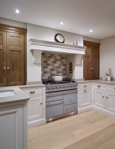 The #Nickleby kitchen design installed in St. Albans has handpainted cabinetry…