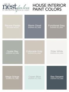 Une palette de couleurs sobres pour un intérieur chic. Find information on each one of the house paint colors I used. Name, brand, and where to find them. Read about why we chose each specific color. Interior Paint Colors, Paint Colors For Home, Interior Design, Living Room Paint Colors, Paint Colours, Best Bedroom Paint Colors, Luxury Interior, Neutral Colors, Room Interior