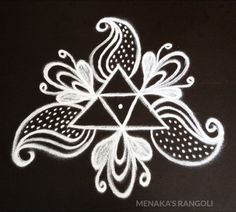 Easy And Beautiful Free Hand Kolam Design Rangoli Side Designs, Simple Rangoli Designs Images, Rangoli Designs Latest, Free Hand Rangoli Design, Rangoli Borders, Latest Rangoli, Small Rangoli Design, Rangoli Patterns, Rangoli Designs Diwali