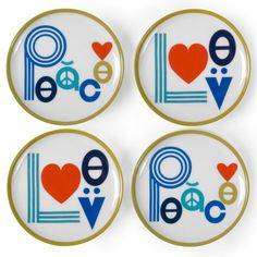 Jonathan Adler Peace Coasters #opusdesignco @opusdesignco