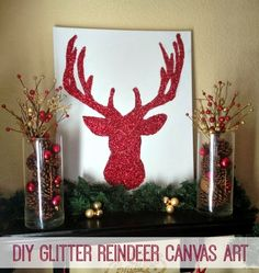 Inspiration For Moms: Holiday Home Tour 2013 + {DIY} Glitter Reindeer