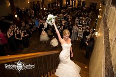 Tossing the bouquet to end a great night at Robbins Sanford.