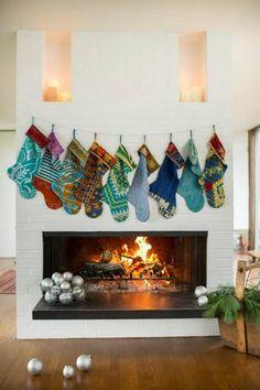 Kantha Stocking   HandandCloth