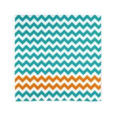 "White and Turquoise Curtains   ... Aqua Living Room > Chevron Stripes - Turquoise and Orange 60"" Curtain"
