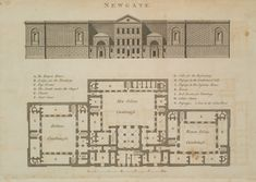 Newgate was London's largest prison 1800 housing 40–50 prisoners. 1800 . The brutal, almost windowless appearance was part of the punishment and deterrence.