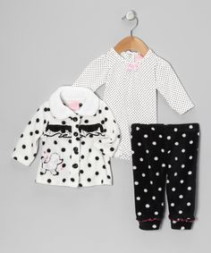 White Dots & Bow Pants Set - Infant | Daily deals for moms, babies and kids