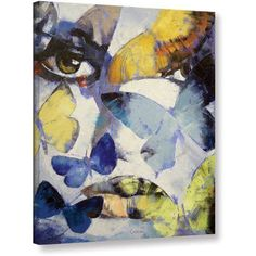Michael Creese Gothic Butterflies Gallery-wrapped Canvas, Size: 36 x 48, Blue
