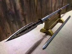 Spear(High manganese steel blade,Stainless steel rod)Handmade,Length 78""