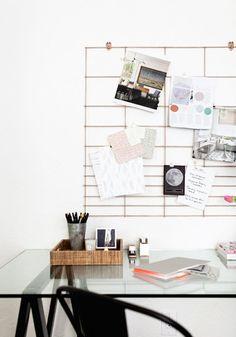 12 diy pour fabriquer un organiseur mural de bureau bureaux bricolage et fils. Black Bedroom Furniture Sets. Home Design Ideas