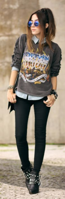 Casual Rocky Streetstyle by Fashion Coolture