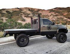 100% Cummins #flatbed #stacks #mud #clean #army