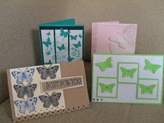"""4 """"Butterfly"""" cards"""
