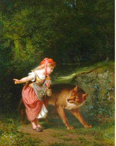 Lejeune, Eugene Joseph (b,1818)- Little Red Riding Hood