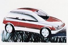 OG |1983 Volkswagen / VW Golf Mk2 | Design sketch thank godness, golf mk2 had never become another opel cadett