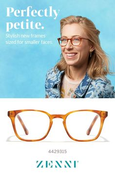 133e3342bb Stylish new frames sized for smaller faces. Small Faces