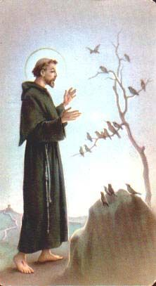 Saint Francis of Assisi: A humble hermit who was said to be able to talk to animals; he was a hugely popular saint in Medieval Europe