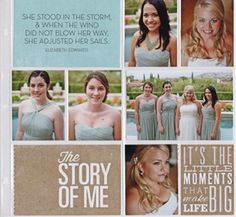 #papercraft #scrapbook #layout #Wedding Pocket Pages™ Story of Me