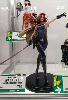 Mara Jade statuette - but seriously, she did not wear heels like that. Too impractical for Jade.