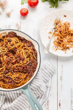 Vegan Bologonese - mushrooms steal the show in this delicious vegan spin on the classic, bolognese (known to the Italians as Ragu). | Click for the vegan spaghetti bolognese recipe
