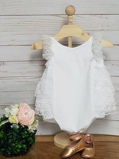 6044e6c0f9cc White Lace Romper-Wedding Romper-Shabby Chic Lace Romper-Baptism Romper-1st  birthday-smash cake outfit-sizes newborn-18 24mth