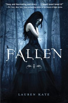 Fallen by Lauren Kate. A great new book that tells a love story that connects to historical events and God. GREAT series!! 3 total.