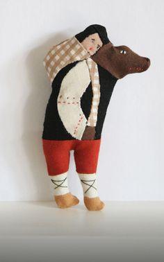 Doll Toys, Pet Toys, Kids Toys, Childrens Bedroom Decor, Textiles, Up Book, Small Art, Felt Art, Diy Doll