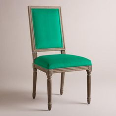 One of my favorite discoveries at WorldMarket.com: Emerald Paige Square Back Dining Chairs, Set of 2