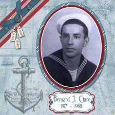 Grandfather's Nautical Scrapbook Page