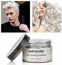 Hair Color Wax Wash Out Hair Color Temporary Hairstyle Cream oz Hair Pomades Natural White Hair Gel for Men and Women (White) Silver Ash Hair, Dark Hair, Thick Hair, Grey Hair, Purple Hair, Red Purple, Ombre Hair, Wash Out Hair Color, New Hair Colors