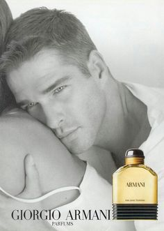 Albert Delegue for Giorgio Armani Parfums Anuncio Perfume, Giorgio Armani Perfume, Perfume Adverts, Perfume And Cologne, Male Models, 90s Models, After Shave, Vogue, Beautiful Men