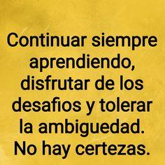 #emprender #incertidumbre