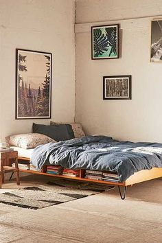 Border Storage Platform Bed #bedframesstorage