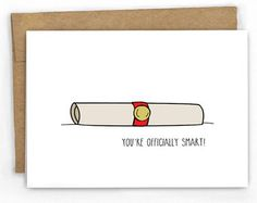 Graduation card funny Funny graduation card by LoveNCreativity