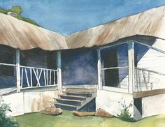 """""""Shack"""" Watercolor on paper"""