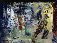 Jack Butler Yeats (Irish, A Cavalier's Farewell to his Steed, Oil on board, 36 x 46 cm. Contemporary Artists, Modern Art, Irish Painters, Jack B, William Butler Yeats, Irish Art, Cavalier, Impressionist, Samuel Beckett