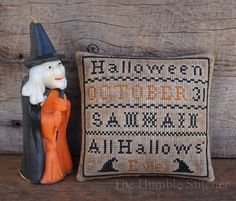 Halloween Sampler...Primitive Cross Stitch Pattern By The Humble Stitcher