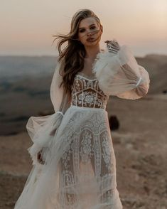 "Galia Lahav on Instagram: ""WHICH IS YOUR FAVE LONG SLEEVE GOWN?😍 1,2,3,4,5,6,7,8,9 or 10!Comment down below to let us know ⬇️ #GaliaLahav"" Boho Bride, Boho Wedding Dress, Dream Wedding Dresses, Bridal Dresses, Wedding Gowns, French Wedding Dress, Wedding Attire, Lace Top Dress, The Dress"