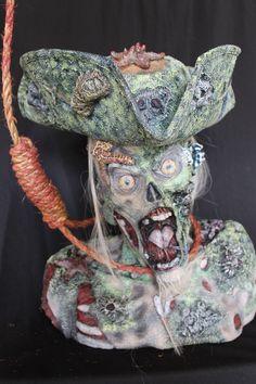 Pirate Zombie Halloween Horror Prop Walking Un Dead Caribbean Jack Life Size | eBay
