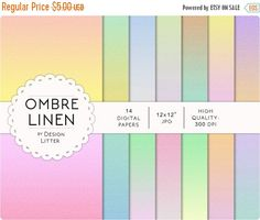 Until New Year - Ombre Linen digital paper: linen background with pastel rainbow colors scrapbook paper for any creative project · print Canvas Background, Rainbow Colors, Scrapbook Paper, Digital Papers, Greeting Cards, Bookmarks, Creative, Projects, Wall Art