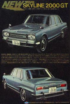 This is a legend, change my mind. Classic Japanese Cars, Bmw Classic Cars, Vintage Japanese, Auto Retro, Retro Cars, Nissan Skyline Gt, Nissan Gt, Pub Vintage, Automobile