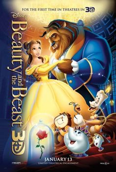 *BEAUTY AND THE BEAST, (1991),  Poster:  Starring: Paige O'Hara, Robby Benson & Richard White