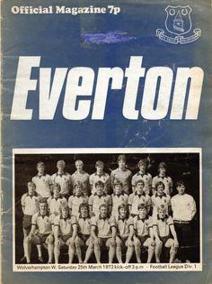 Everton v Wolverhampton Wanderers 1971-72 match day programme