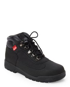 Timberland (Kids Boys) Black Helcor Leather Field Boots