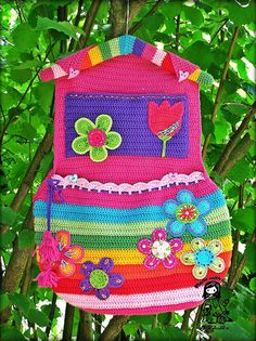 Hanging pockets organizer PATTERN  - Rainbow collection