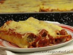 Cannelloni z mięsem mielonym w sosie pomidorowym