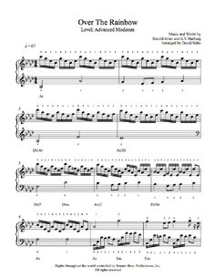Over The Rainbow by Judy Garland Piano Sheet Music | Advanced Level