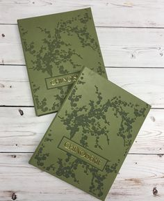 Top Trends for 2017 – British Racing Green The must have dark green shade adds sophistication and botany effect to this restaurant menu cover. The design is truly stunning and a work of art.