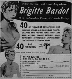 """Brigitte Bardot, that Delectable Piece of French Pastry"" (1959)"