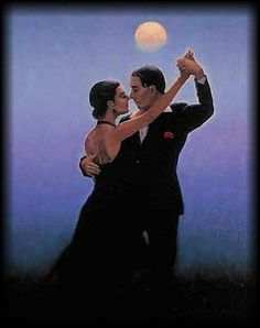 Tango Dancers by Jack Vettriano Jack Vettriano, Shall We Dance, Lets Dance, Dancer Drawing, Painting & Drawing, The Singing Butler, Tango Dancers, Under The Moon, Salsa Dancing